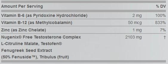 ingredients used in nugenix testosterone booster